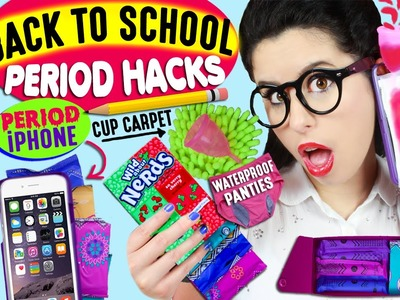 25 Period Life Hacks For Back To School: Period Phone Case, Tampon Baby Lips, DIY Menstrual Cup Rug!
