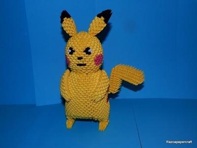 3D origami Pikachu tutorial Part1