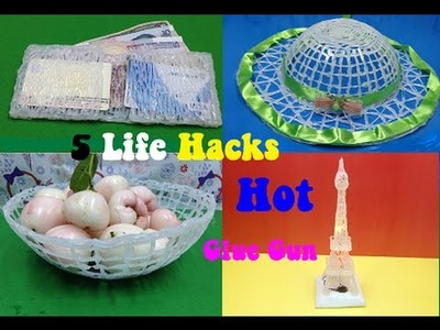5 amazing things can be made with a hot glue gun - 5 Life Hacks Hot Glue Gun