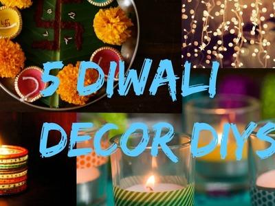 5 DIWALI Decor DIYs Floating fire light, Diya garland +more | Simple & Easy