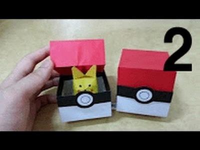 526 포켓몬 GO (포켓볼 상자) 2 - 2 색종이접기 Origami  pokeball 종이접기 Pokemon Go paper 摺紙 折纸 оригами 折り紙  اوريغامي