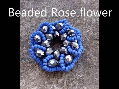 Beaded rose flower