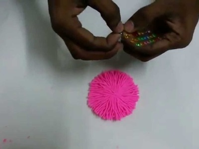 Beautiful Woolen Flower Making with simple steps Hand made items