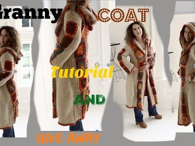 Boho Romantic Fall Crochet Granny Coat