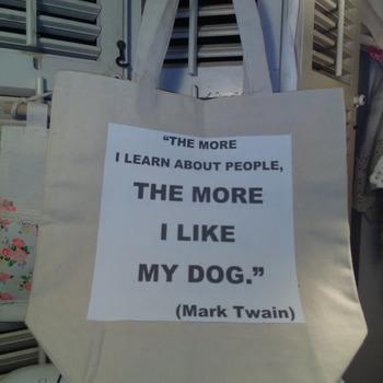 Canvas Tote Bag Loving more dog