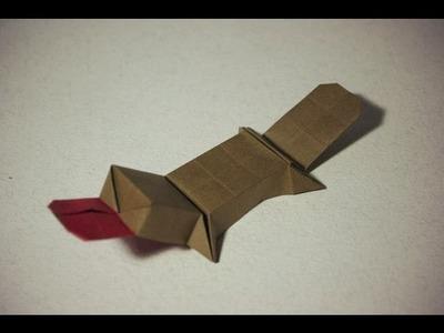 Cool Origami Platypus (duckbill) by Saito Riki | Como hacer ornitorrinco origami