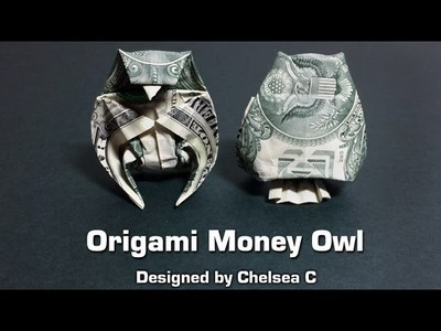 Dollar bill origami owl (instructions) money origami, moneygami, $1 bill origami, dollar origami