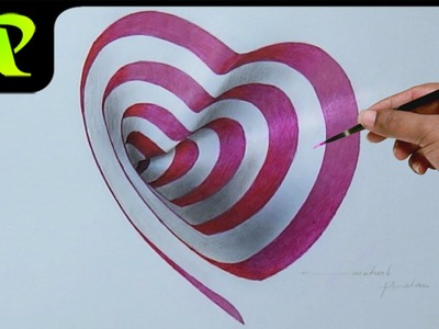 Drawing a 3D Heart Hole