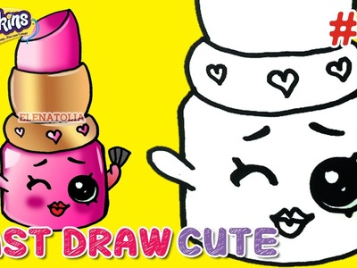 "Easy Drawings - How to Draw Shopkins Season 1 ""LIPPY Lips"" Step by Step  ★ Fast Draw Cute"