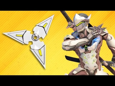 Genji Overwatch - Ninja star Shuriken - How to make Genji's Ninja star Shuriken