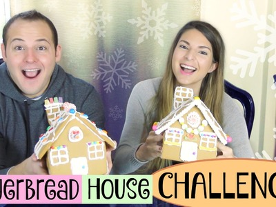 GINGERBREAD HOUSE CHALLENGE with my boyfriend!. SoCraftastic