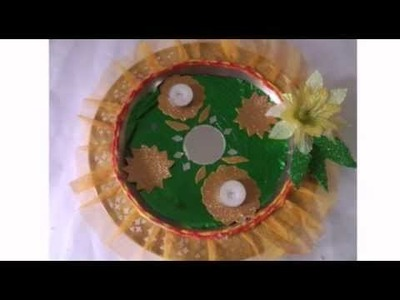 How To Decorate Puja Aarti Thali For Festivals | Craftlas