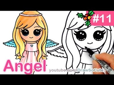 How to Draw an Angel Cute Anime step by step Christmas Special