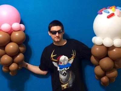 Ice Cream Cone Balloon Decorations!
