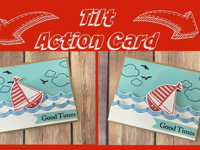 Interactive Tilt Card With Sailboat on the Waves