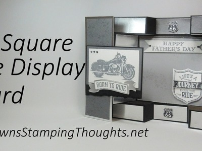 Large Square Double Display card with Dawn