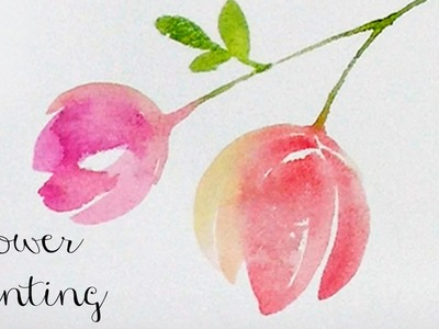 [LVL2] Watercolor Tutorial : How to paint flowers