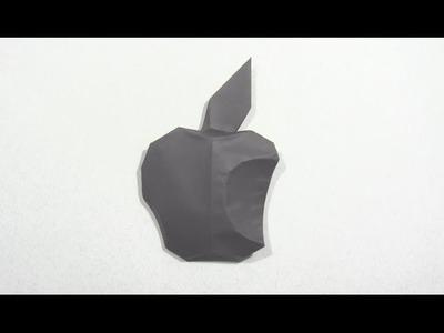 Origami Apple Logo by Oscar Osorio | Cómo hacer origami de papel logo apple
