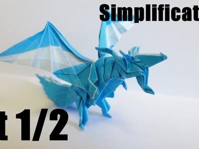 Origami Fiery Dragon 折り紙 折り方 ドラゴン 【簡略化】