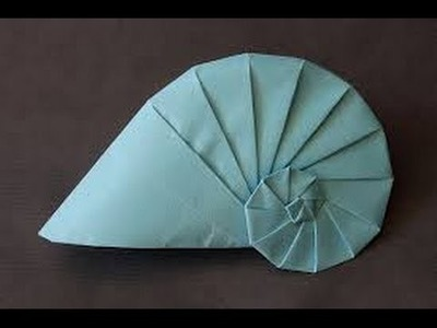 Origami navel shell by Tomoko Fuse
