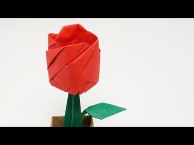 ORIGAMI ROSE IN A POT - Time-lapse (Jo Nakashima)