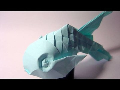 Origami Scaled Fish - not a tutorial