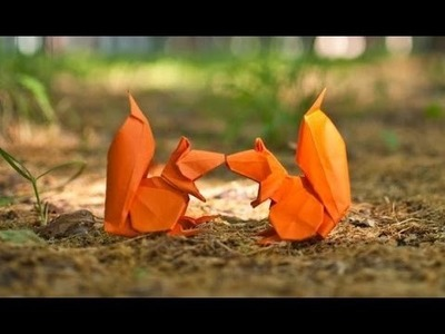 Origami squirrel by Stephan Weber - Yakomoga Origami tutorial