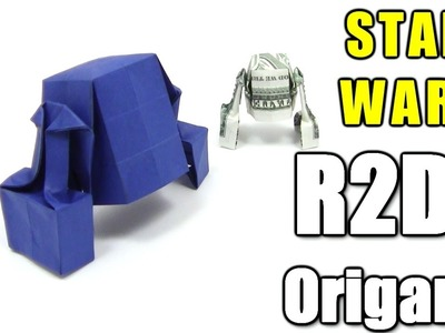 Origami STAR WARS R2D2 by Michael Shannon - Yakomoga dollar Origami tutorial