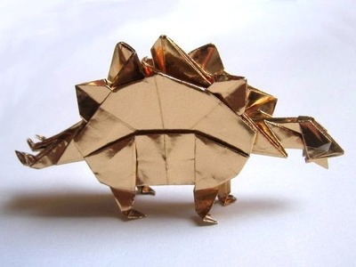 Origami Stegosaurus by John Montroll (Part 3 of 3)