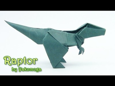 Origami T-Rex Dinosaur Raptor by Yakomoga - Yakomoga Origami tutorial