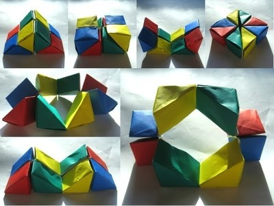 """Origami """"Wedge Flexicube"""" by David Brill (Part 1 of 3)"""