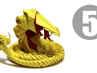 Part5.5 : How to fold Origami Devil Cobra. Hell Cobra 摺紙魔鬼眼鏡蛇教學