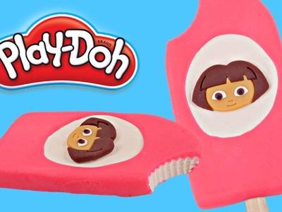 Play doh Popsicle Dora The Explorer | How To Make Playdough Popsicle Dora & Friends