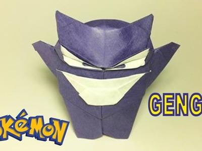Pokemon Go: Origami pokemon Gengar by PaperPh2 Tutorial