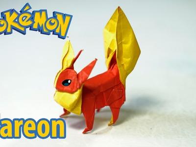 POKEMON - Origami Flareon tutorial (Henry Phạm.Aidan Johnathan)