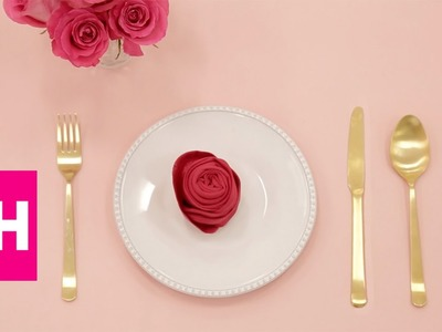 Rose Napkin Folding with @OrigamiTree | GH