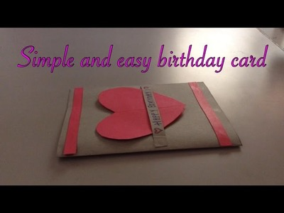 Simple and easy birthday card handmade!