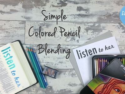 Simple Colored Pencil Blending - Bible Art Journaling Challenge Week 28