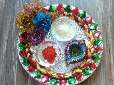 Thali Decoration | Puja Thali Decoration Ideas for Diwali | Pooja Thali Making for Diwali