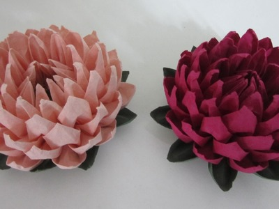 TUTORIAL - Simple and Easy to make Lotus Flower (蓮花)