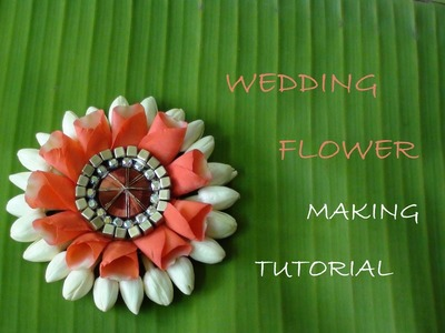 Wedding flower making tutorial video