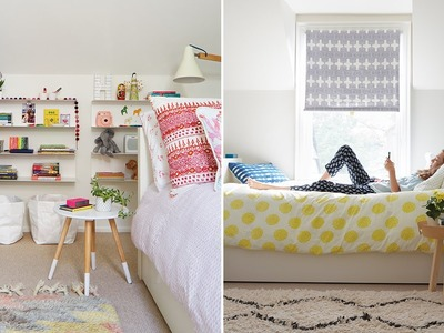 A Modern & Colorful Oasis For Two Girls
