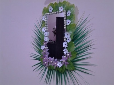 Best Out Of Waste Plastic  fabulous Mirror Wall Hanging