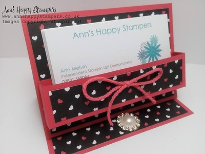 Cute Business card.Post it note holder using New Pop of pink DSP