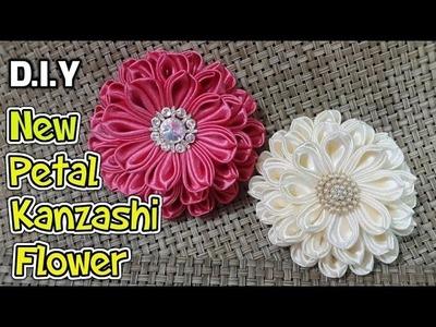 D.I.Y. New Petal Kanzashi Flower | MyInDulzens