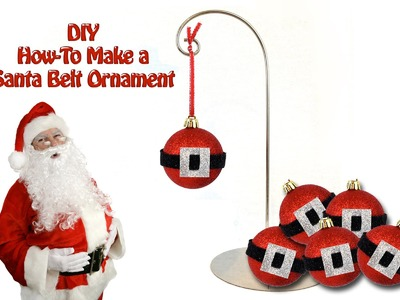 DIY How To Make a Santa Belt Ornament