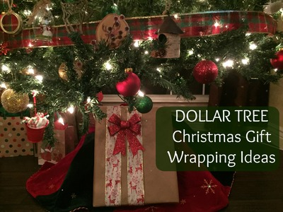 DOLLAR TREE Christmas Gift Wrapping Ideas