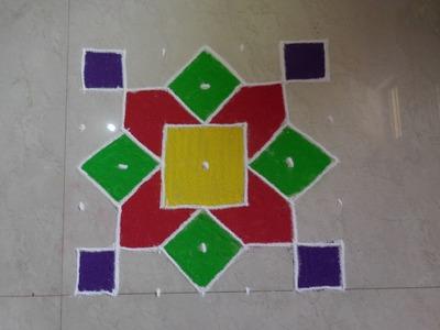 Dot's Rangoli Design 7 to 7