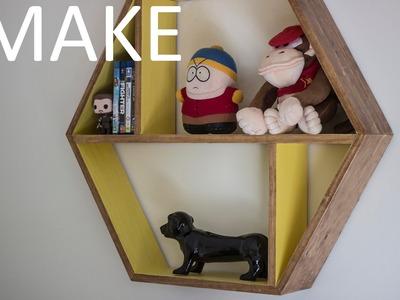 Easy to Make Honeycomb Floating Shelf
