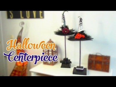 Elegant decor for Halloween, Witch hat centerpiece - Isa ❤️